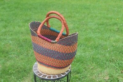 New Small Bolga Handmade Straw Baskets From Ghana Authentic Ashanti