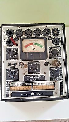 Vtg Large Industrial Steampunk Radio City Products Tube Tester Model 310 Decor