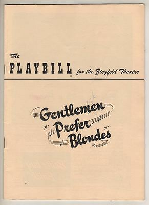 "Carol Channing   ""Gentlemen Prefer Blondes""   Playbill  1950   Broadway"