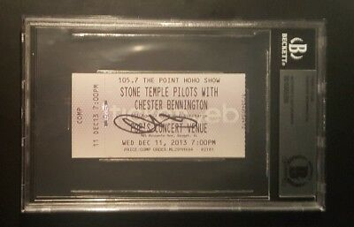 Linkin Park Chester Bennington Signed Autographed STP Ticket Stub BAS AUTHENTIC