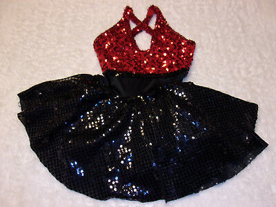Red & Black Dance Costume Adult Medium