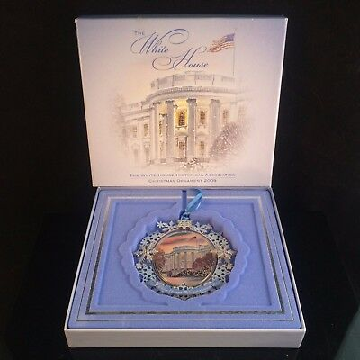 2009 The White House Historical Association Christmas Ornament Complete W/ Box
