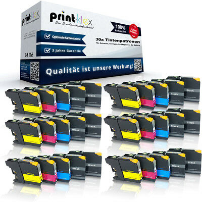 30 x Premium Compatible Ink Cartridges for Brother Lc121/Lc123 Cassettes
