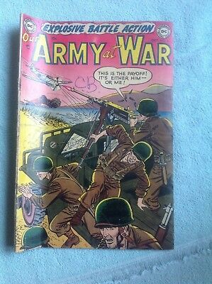 DC Comics Golden Age Comic book OUR ARMY AT WAR #3 FN 5.5 NO RESERVE