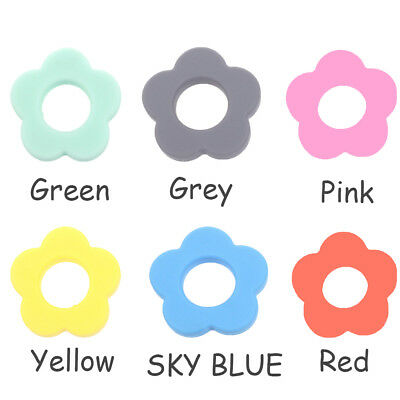Flower Silicone Teething Bead DIY Chew Necklace Pendent Baby Teether Making