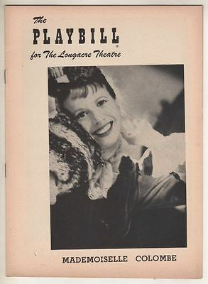 "Julie Harris   ""Mademoiselle Colombe""   Playbill  1954   Broadway  Edna Best"