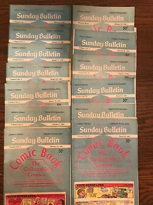Sunday Bulletin The Collectable Comics 1/3-3/28/82