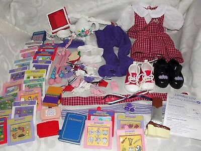 Amazing Ally Doll Accessory Books Lot Shoes Brush Lot Very Good Condition