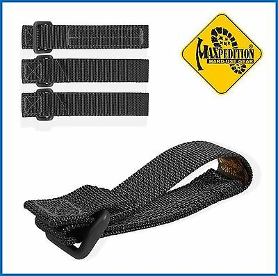 Maxpedition TacTie Attachment Straps 3 inch Black Pack of 4 9903B