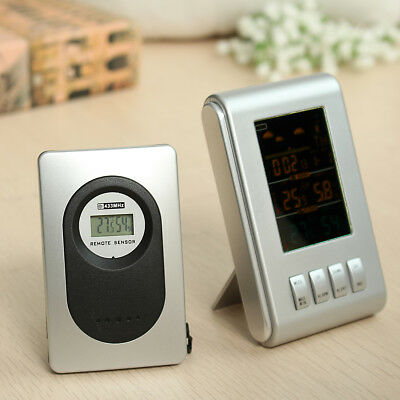 Digital Thermometer Hygrometer Wireless Indoor Outdoor Humidity Weather Station