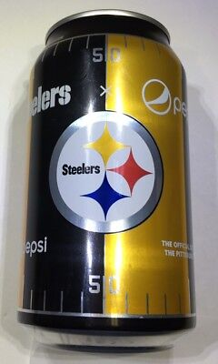 Pittsburgh Steelers Limited Edition Full Can Pepsi Cola 2017 Nfl Football