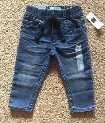 Toddler Boy 12-18 Month Baby Gap Pull On Banded Denim Jogger Jeans Pants