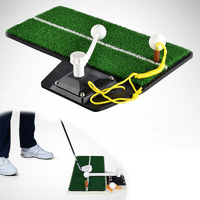 New Golf Training Mat Indoor Outdoor Driving Range Swing Trainer Practice Aids #