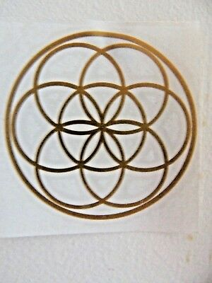 Seed of Life, Merkaba, Sri Yantra - Holographic Stickers 8.5cm - Sacred Geometry
