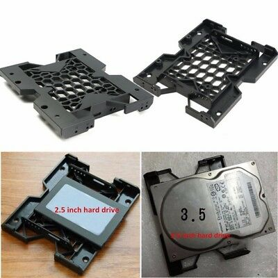 """5.25"""" to 3.5"""" 2.5"""" SSD Hard Drive Tray Bay Cooling Fan Mounting Screws Holes PC"""