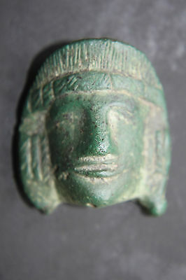 ANCIENT FINE ROMAN EARLY HEAD APPLIQUE ACTOR MASK 1/2nd CENTURY AD