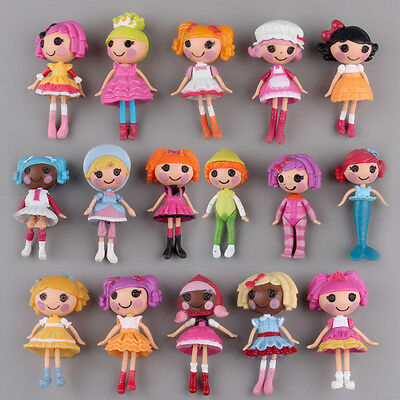 Lot of 8pcs Mini Lalaloopsy Dolls Cute Small Toys Home Decor Collections Beauty.