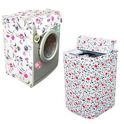 1* Waterproof Zippered Washing Machine Cover Dust Guard Dryer Dustproof Protect.