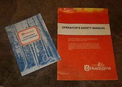Husqvarna Chainsaw  Operation safety manuals.  1980's