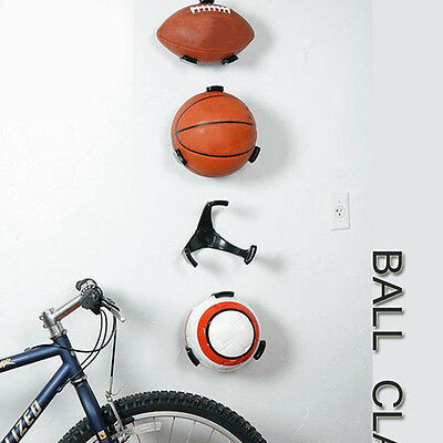 1x Ball Holder Claw Wall Rack Display for Rugby Soccer Football Basketball new #