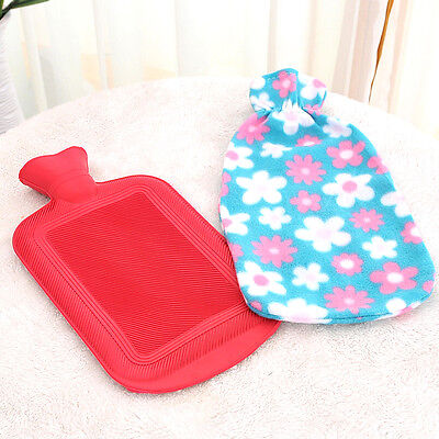 Natural Rubber Hot Water Bottle Bag Warmer Large/Small Random Anti-cold 1pc ###