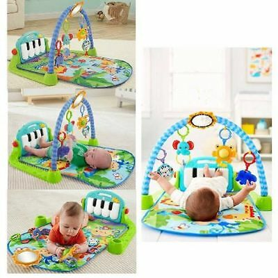 Green Baby Gym Floor Play Mat Activity Center Fisher Price Kick Pad Piano Toy