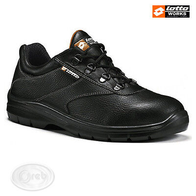 Safety Shoes Lotto Works Classic Black Low F9051 S1P Src Leather