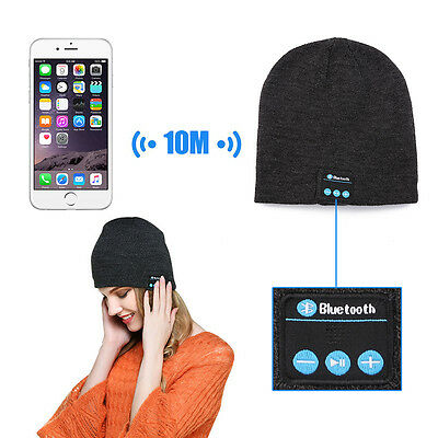 Hot New Beanie Hat Wireless Bluetooth Smart Cap Headphone Headset Speaker Music