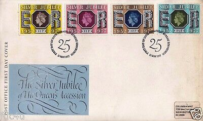 Great Britain Fdc 1977 Silver Jubilee Of Queen Accession
