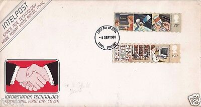 Great Britain Fdc 1982 Space Age Technology