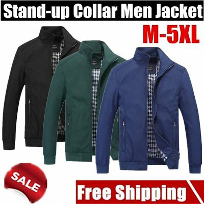 New Hot Men's Slim collar jackets fashion jacket Tops Casual coat outwear FU