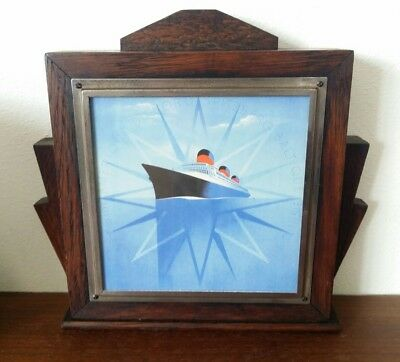 vintage upcycled art deco wooden photo frame unique one off 30s 40s odeon style