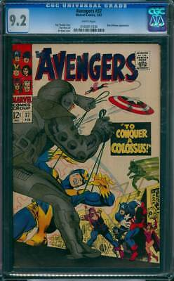 Avengers # 37  To Conquer a Colossus !  CGC 9.2 scarce book !