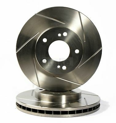 Rear Performance Slotted 12G Brake Discs for Alfa MiTo 1.4 Turbo 120hp
