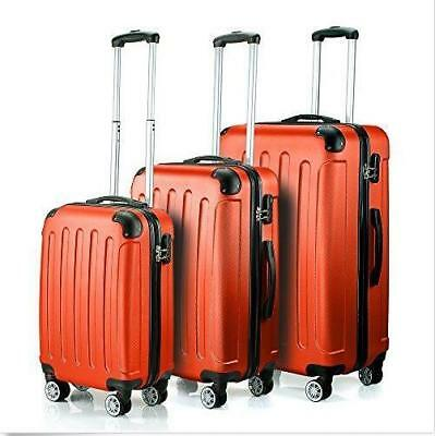 3Pcs Luggage Travel Set Bag w/TSA Lock ABS Trolley Spinner Carry On Suitcase 22