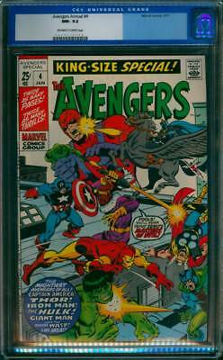 Avengers Annual # 4  To Defeat Zemo's Masters of Evil !  CGC 9.2 scarce book !