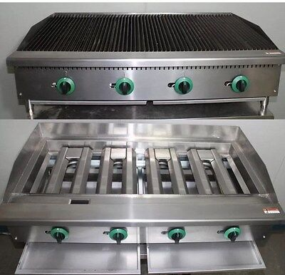 NEW Gas Chargrill Radiant Grill Char Broiler 4 Burner