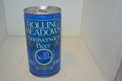 Rolling Meadows, Illinois 25th anniv. beer can-Jacob Leinenkugel Brwg. Co., WI