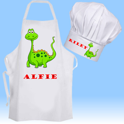Personalised Dinosaur Cooking Baking Apron Kids Adults Christmas Birthday Gift.