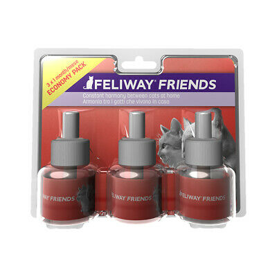 Feliway Friends 30 Day Refill 48ml For Stress Reduction In Cats - Pack Of 3