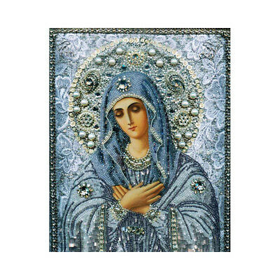 Special Shaped Resin Diamond Embroidery Virgin Mary Cross Stitch Painting Craft