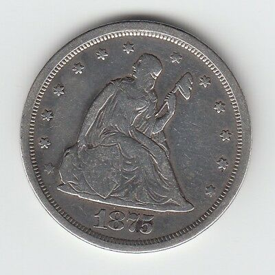 1875 S United States 20 cent Seated Liberty  90% silver