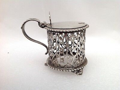 Excellent Solid Silver Mustard Pot, 1921 - Goldsmiths & Silversmiths Company