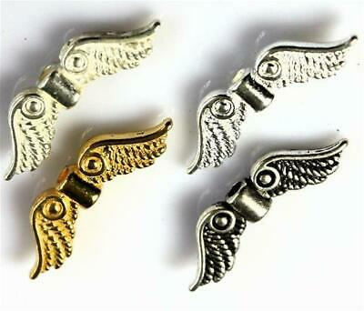 20 x FAIRY ANGEL WINGS CHARMS 23mm x 7mm COLOUR CHOICE TOP QUALITY