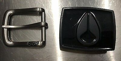 Lot of 2 buckles VOLCOM NIXON for leather belt