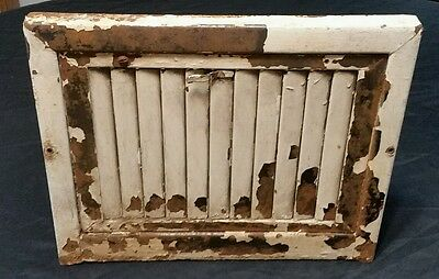 Vintage Floorl Heat Register Metal Vent  Antique Grate  Louvers Wall