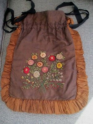 Victorian Ribbon Embroidered Dorothy Bag,  .