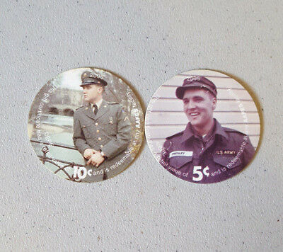 2005 Series 6 Aafes Pogs Lot Of 2 Elvis Presley Collectible Rare