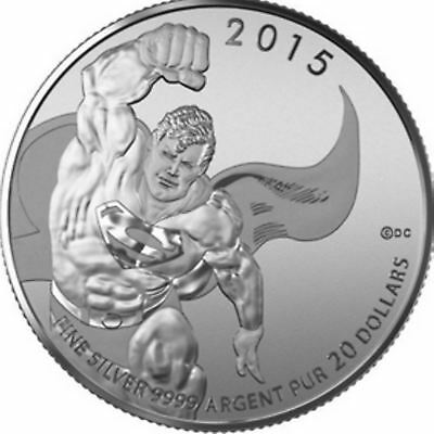 $20 Canadian 1/4 oz Silver $20 Superman Coin