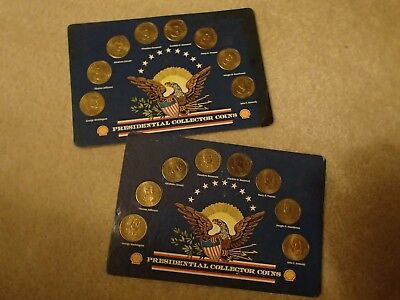 1992 Presidential Collector Coin Set from SHELL Lot Of 2